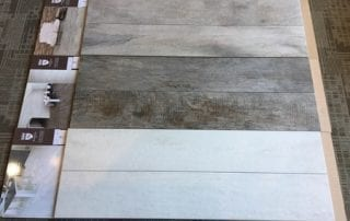 Samples of different flooring styles