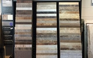 Samples of ceramic tiling options